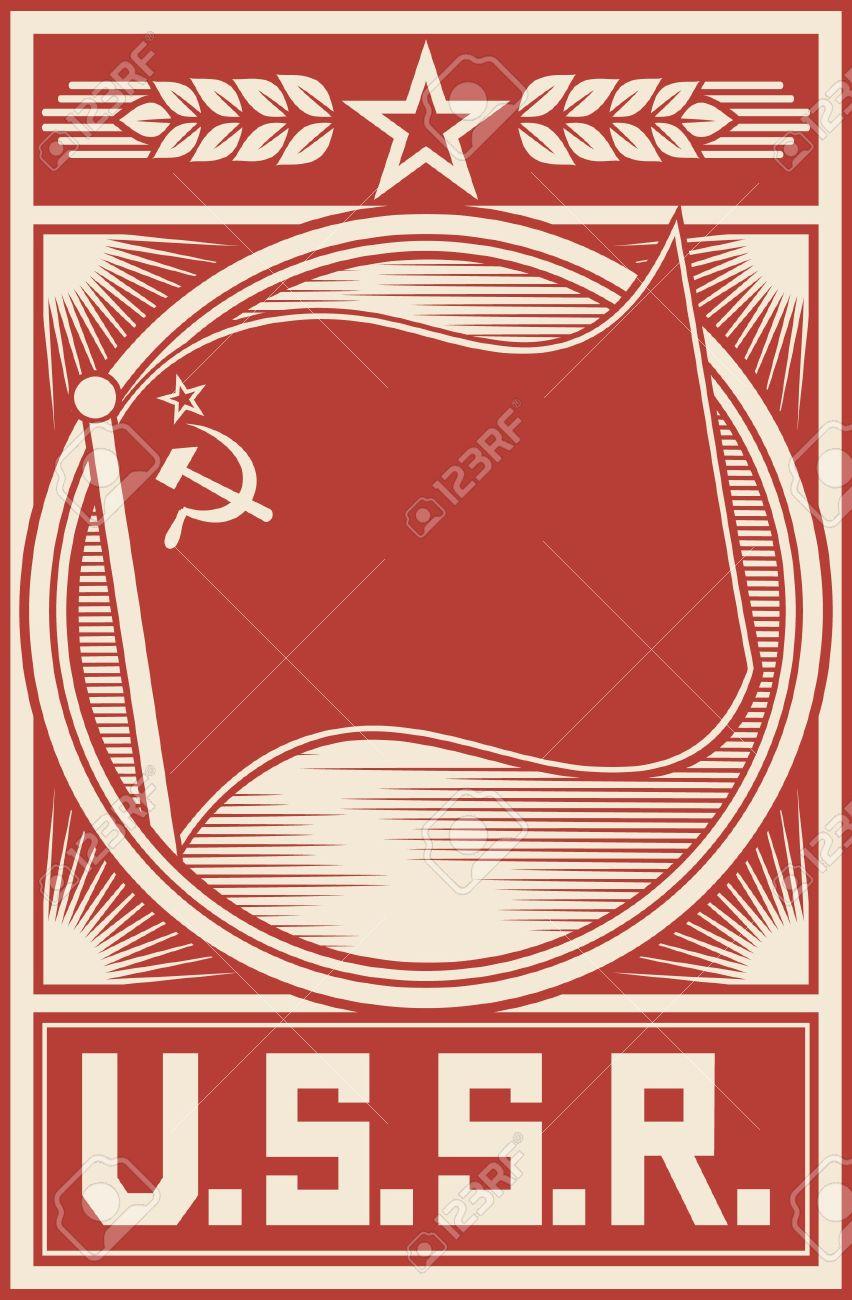 Ussr Poster (soviet Union Poster, Socialism Poster, Ussr Flag ...