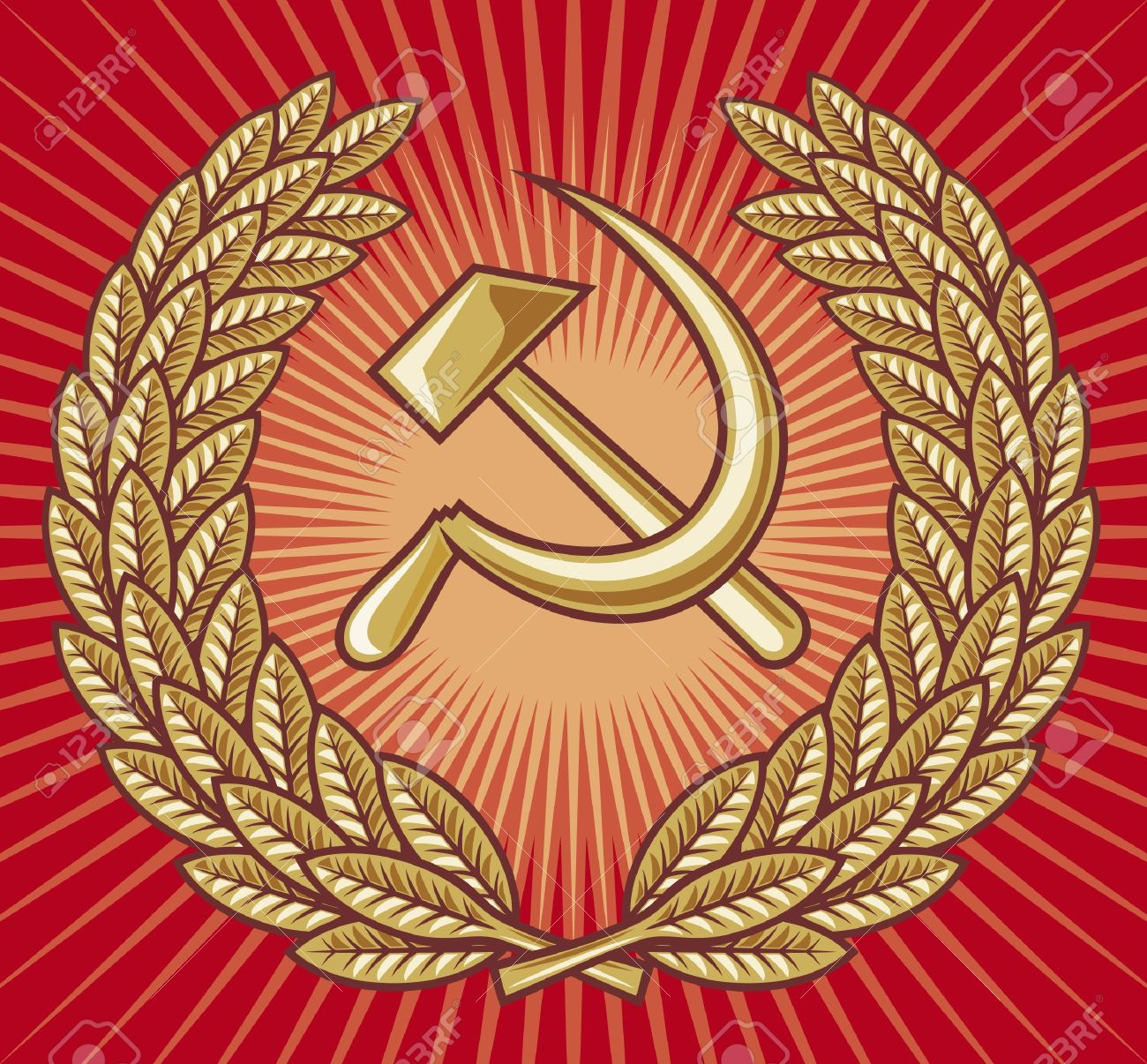 Symbol of ussr hammer sickle and laurel wreath ussr sign symbol of ussr hammer sickle and laurel wreath ussr sign soviet symbol biocorpaavc Gallery