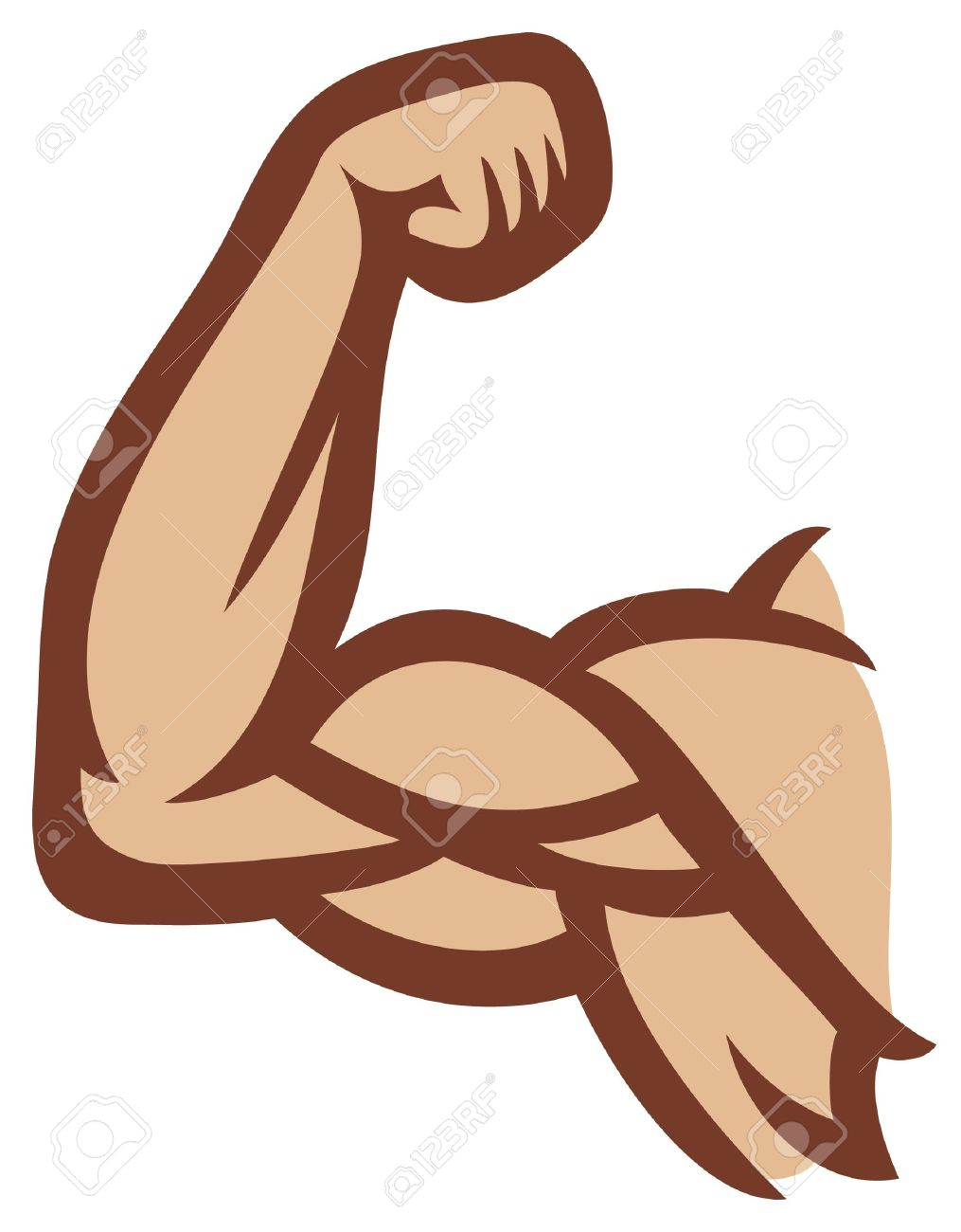 biceps  man s arm muscles, arm showing muscles and power Stock Vector - 15956098