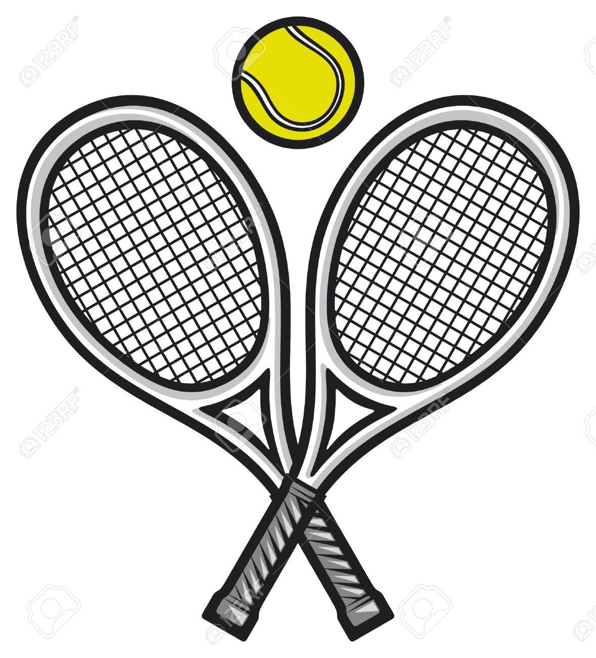 Tennis Rackets And Ball Tennis Design Tennis Symbol Royalty Free