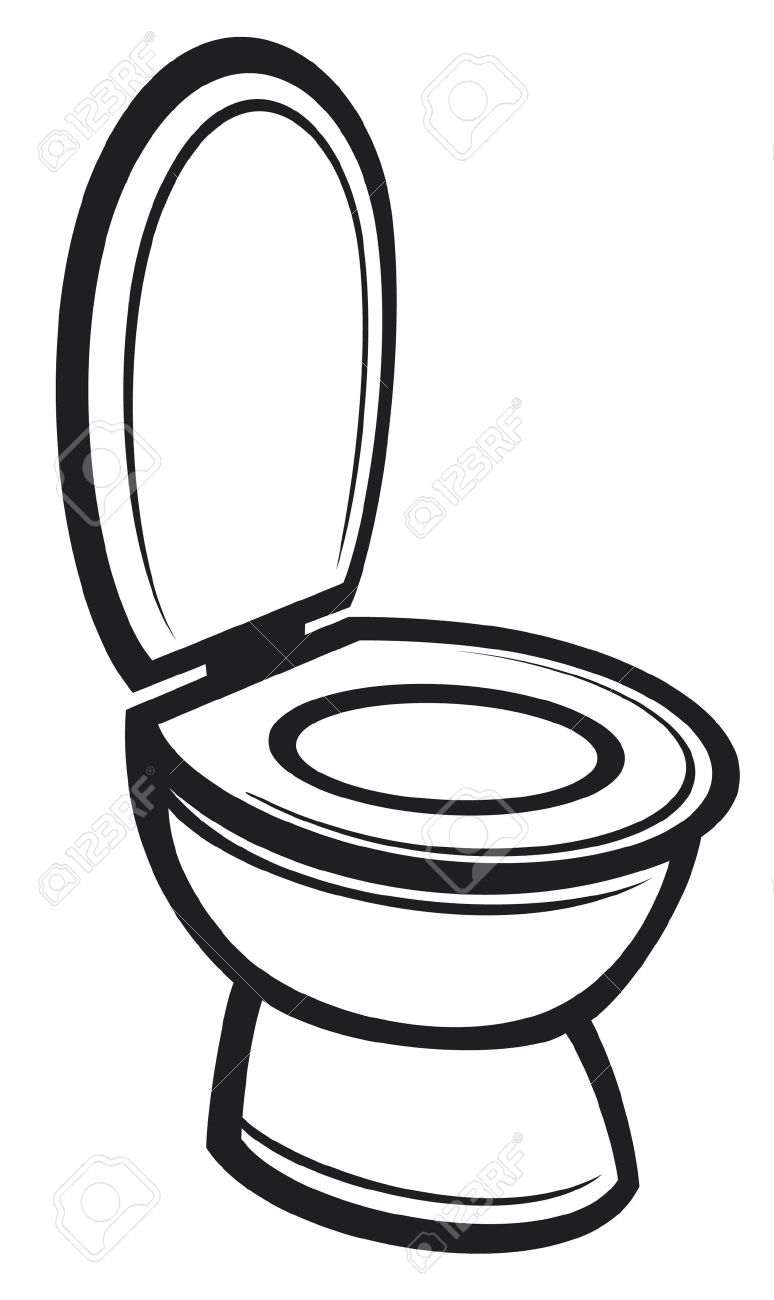 Toilet (toilet bowl) Stock Vector - 16004893