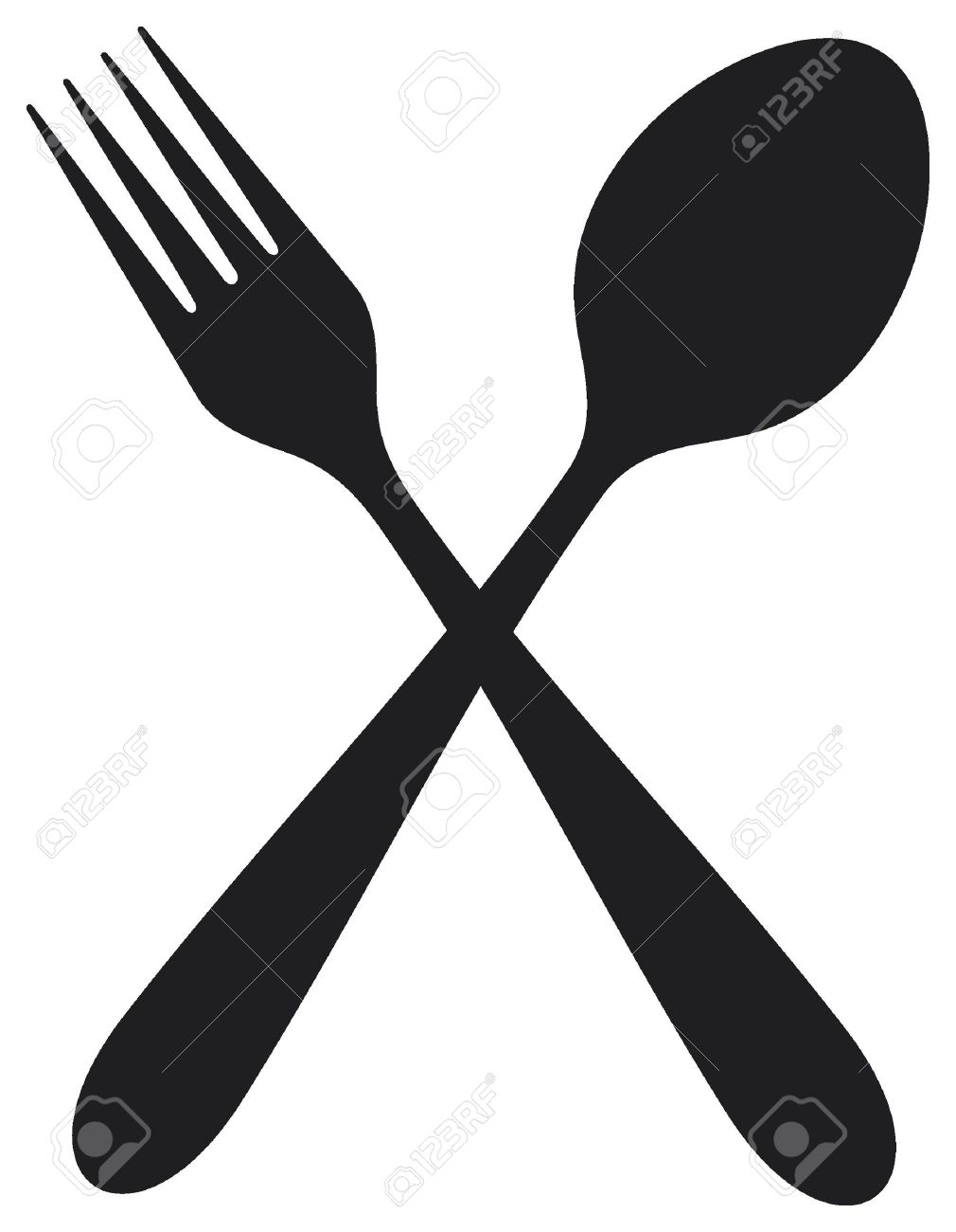 crossed fork and spoon royalty free cliparts vectors and stock rh 123rf com hands holding spoon and fork clipart plate fork and spoon clip art