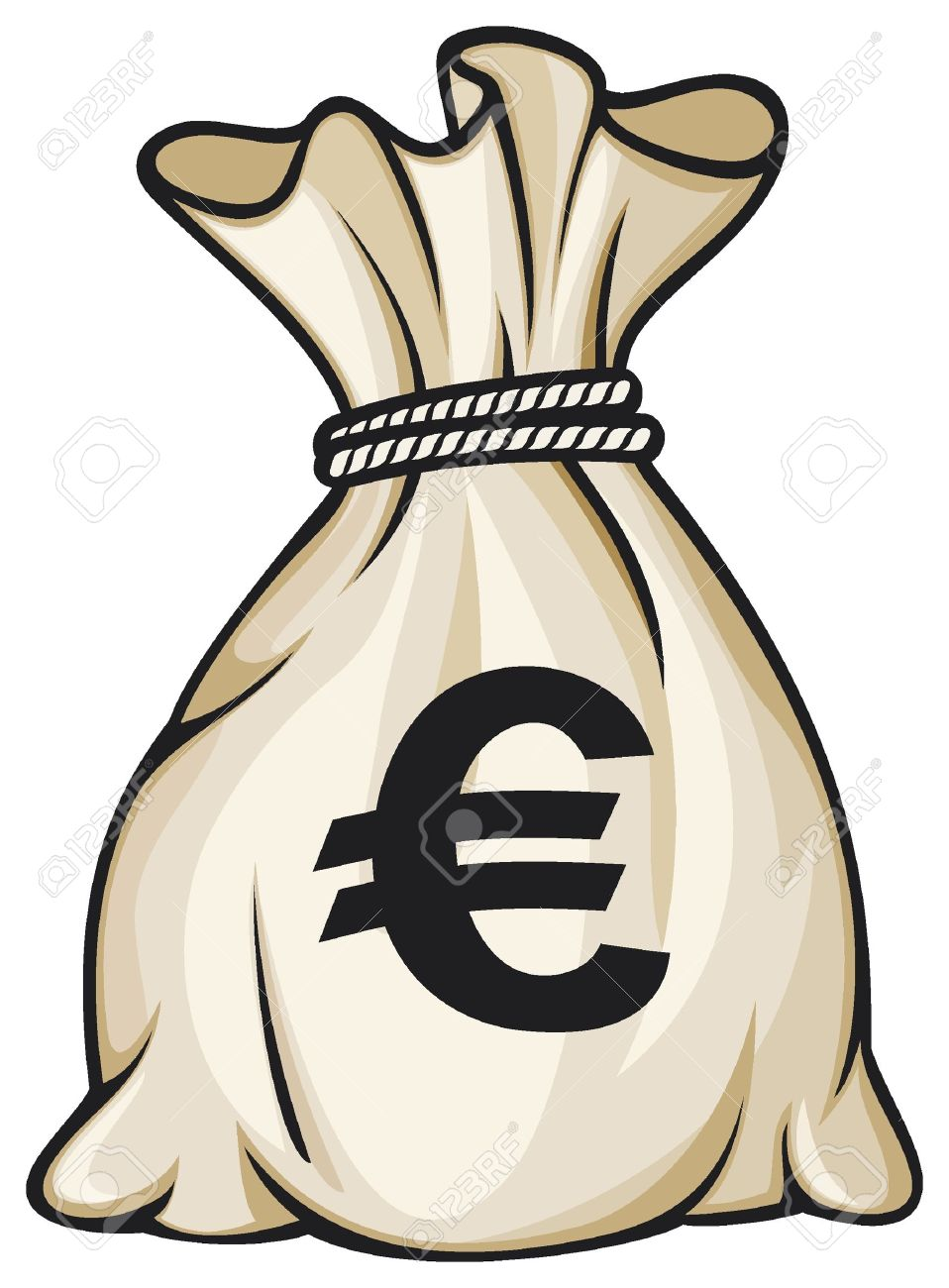 Money Bag With Euro Sign Illustration Royalty Free Cliparts Vectors