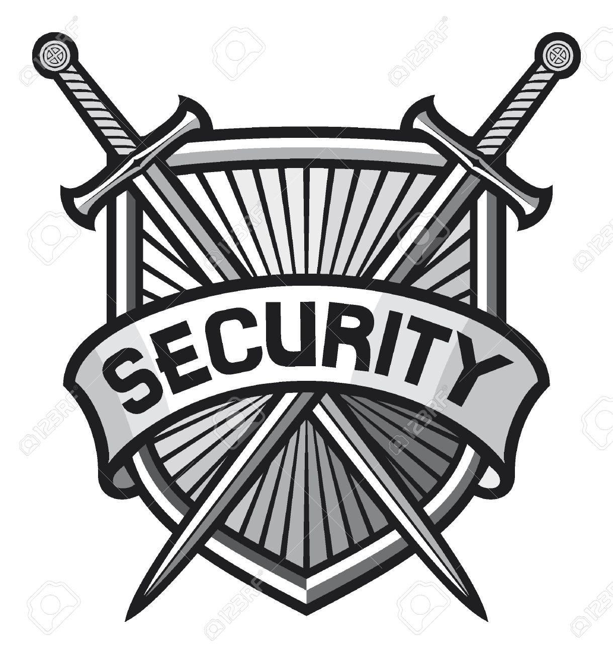Metallic Security Shield Security Sign Security Symbol Secure