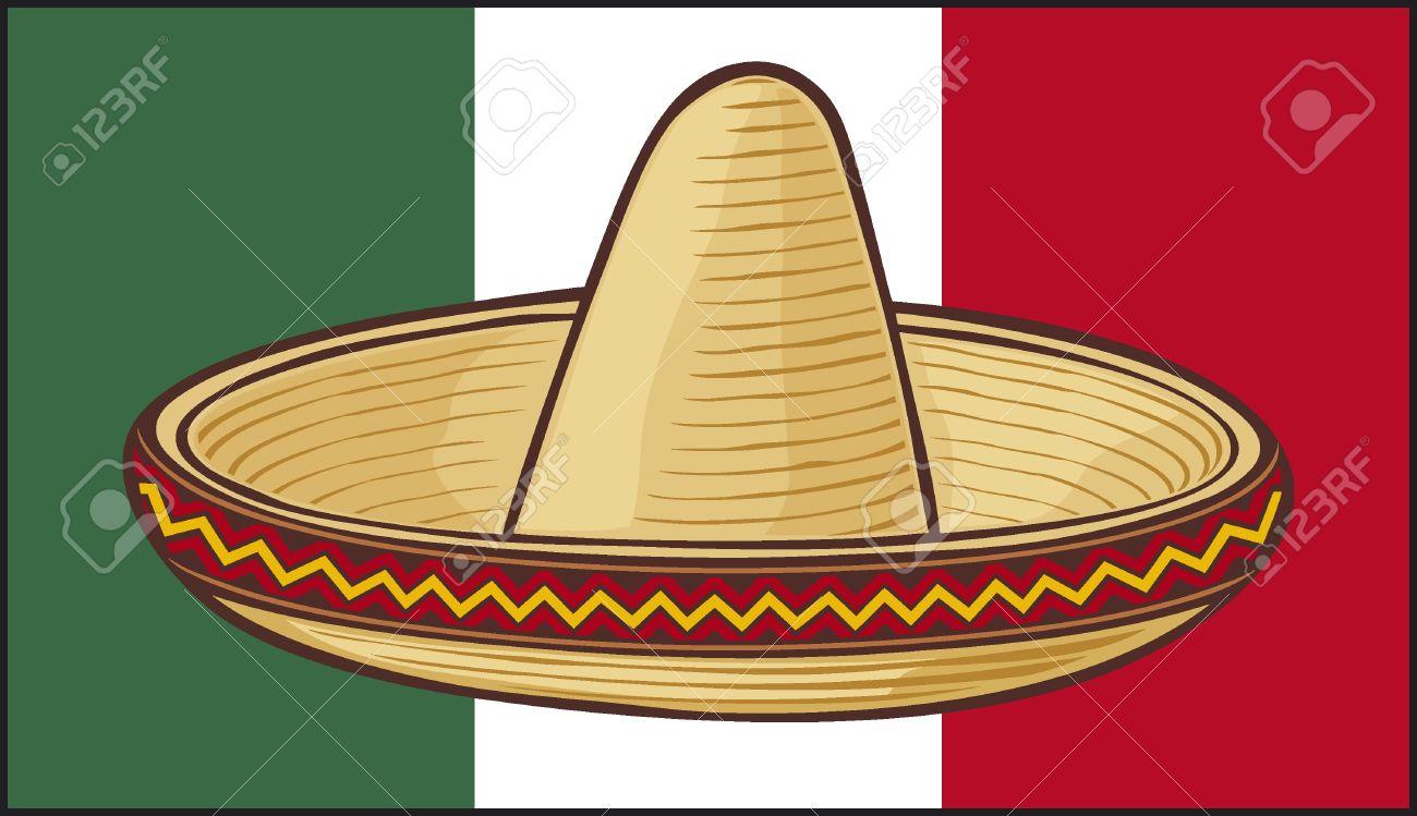 mexico flag sombrero mexican hat royalty free cliparts vectors