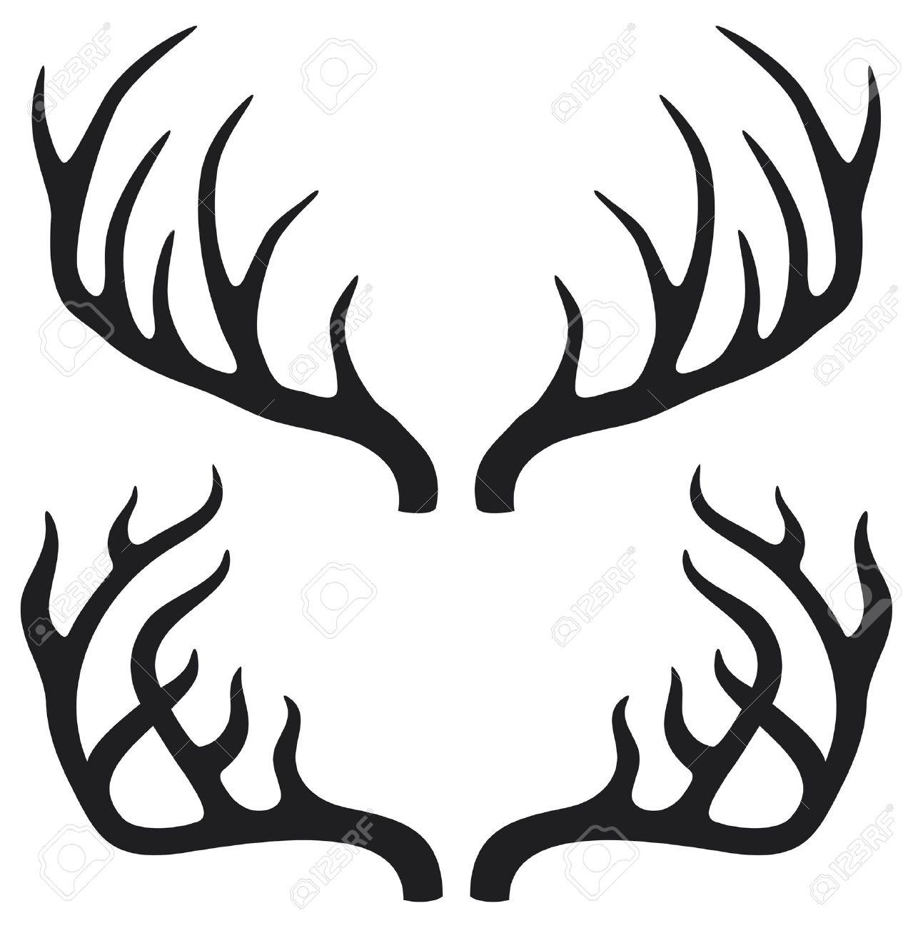 deer horns Stock Vector - 16096762