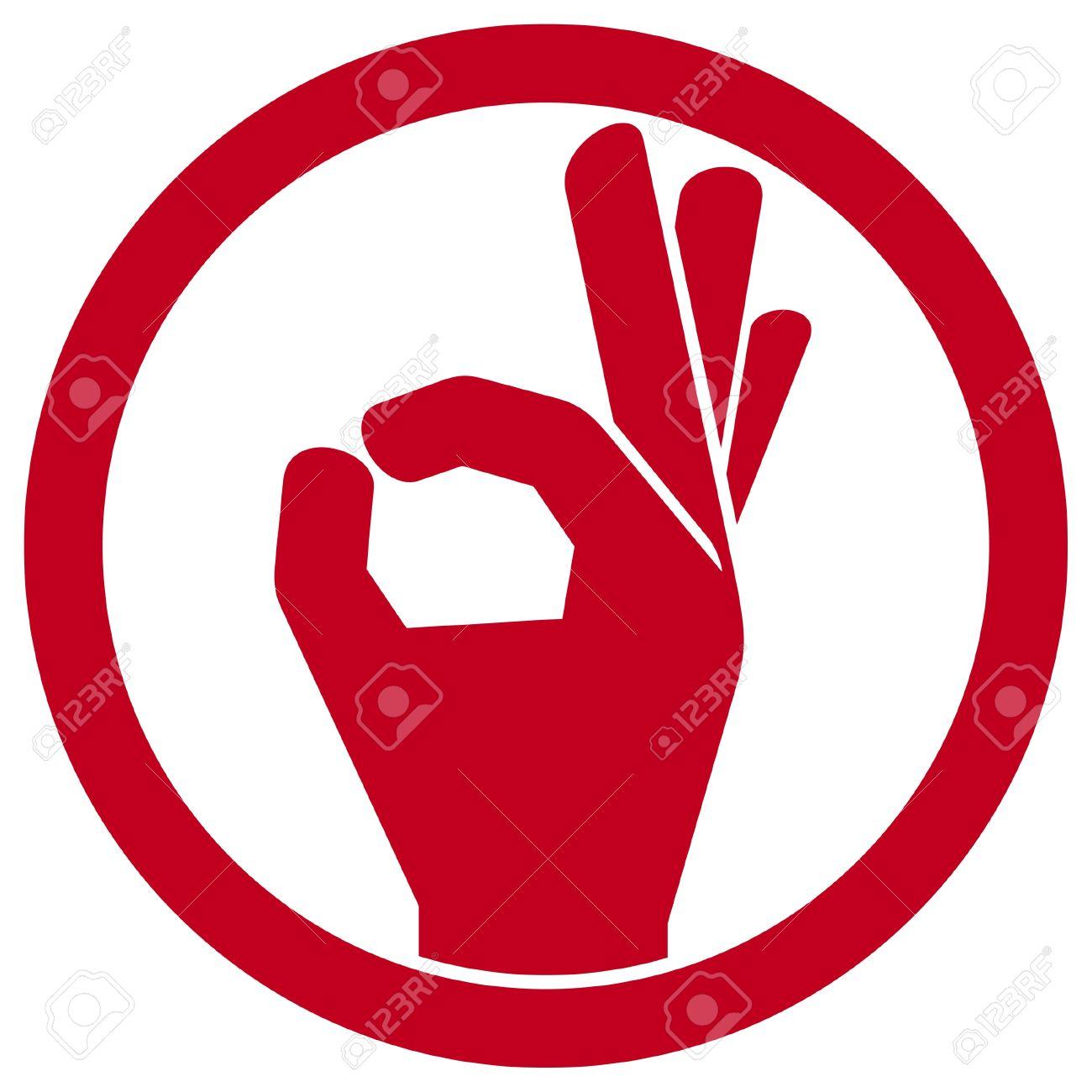 human okay hand sign (OK hand symbol, OK symbol, OK sign icon, hand okay sign, man hand showing ok sign) Stock Vector - 16675309
