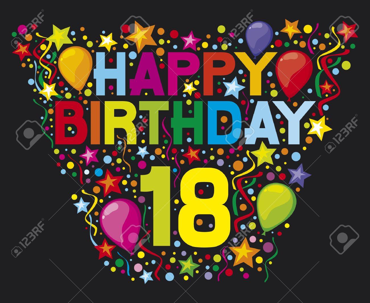 Happy Birthday 18 Party Design Glucklich Geburtstag Standard
