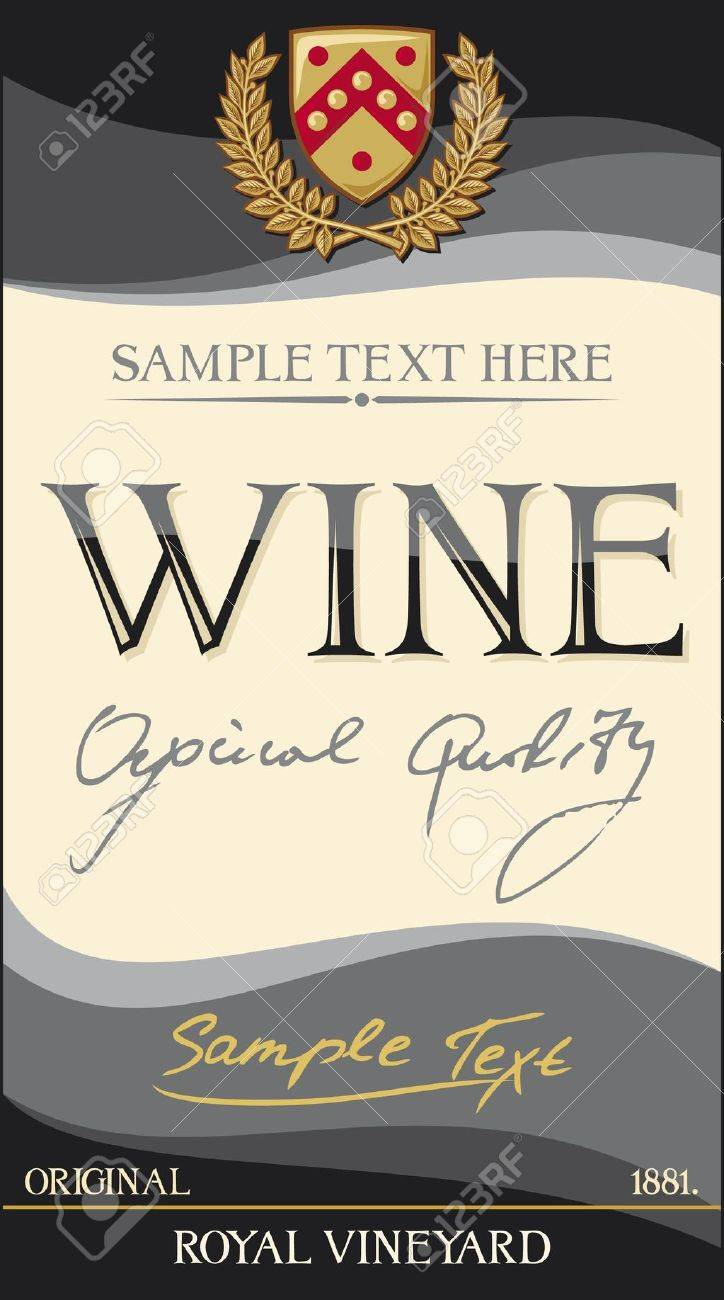 Vector   Vector Wine Label Design