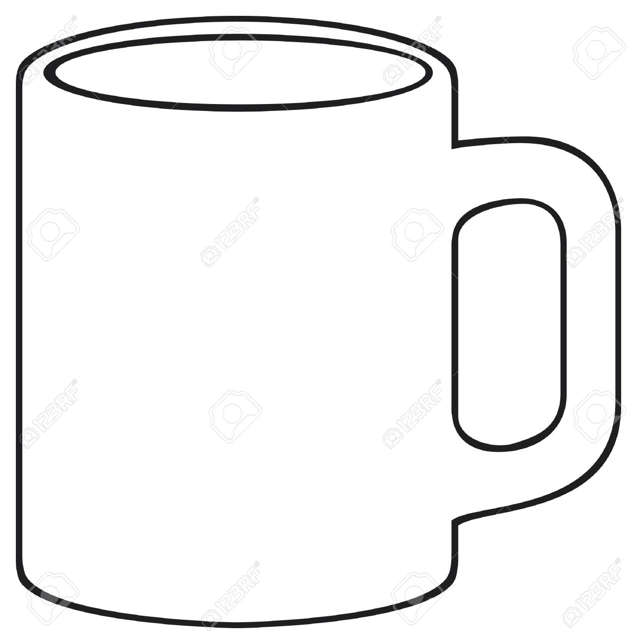 coffee mug white cup royalty free cliparts vectors and stock rh 123rf com coffee mug clipart black and white coffee mug clipart free