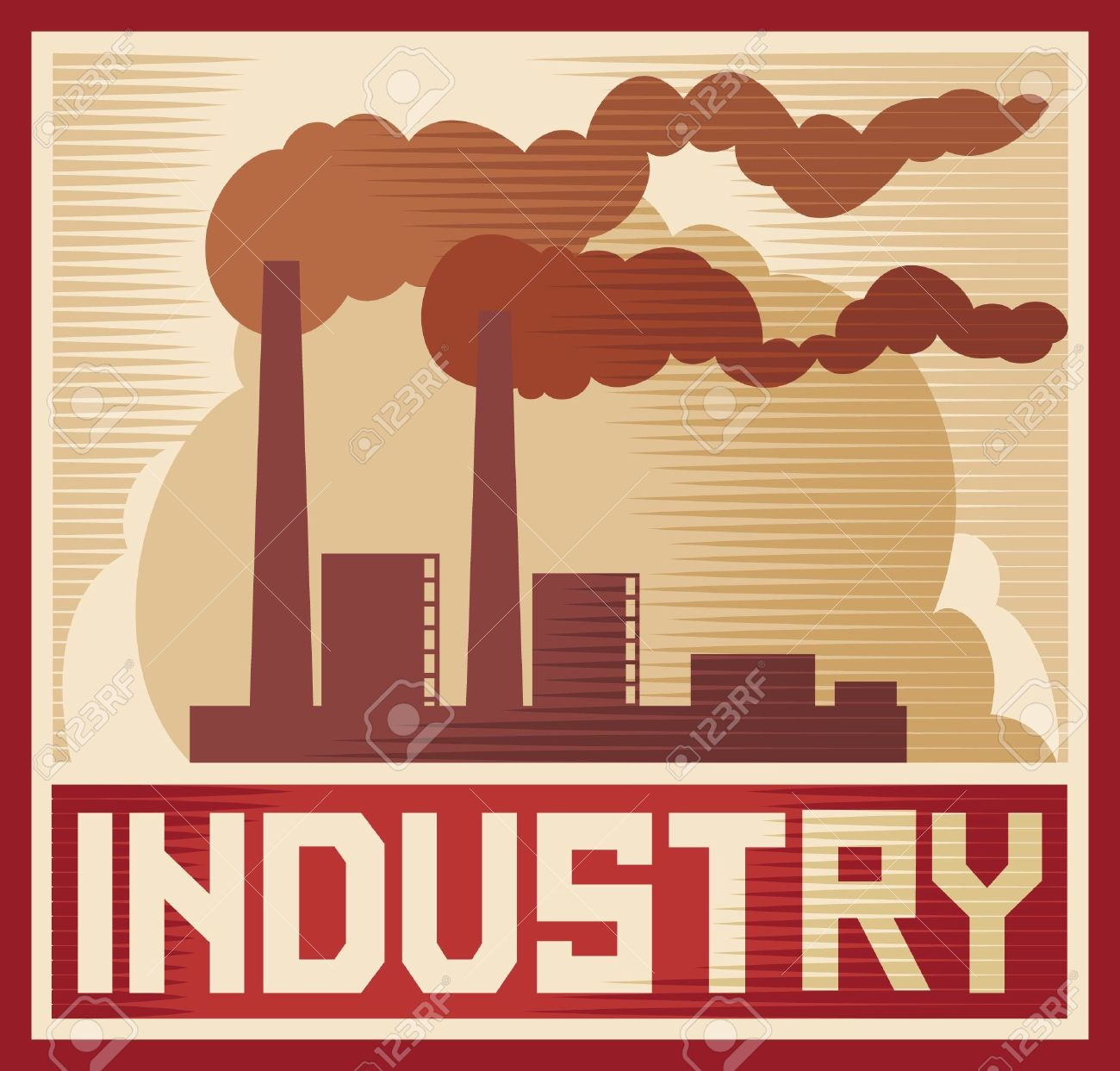 Industry Poster - Industrial Plant Industry Design, Industrial ...