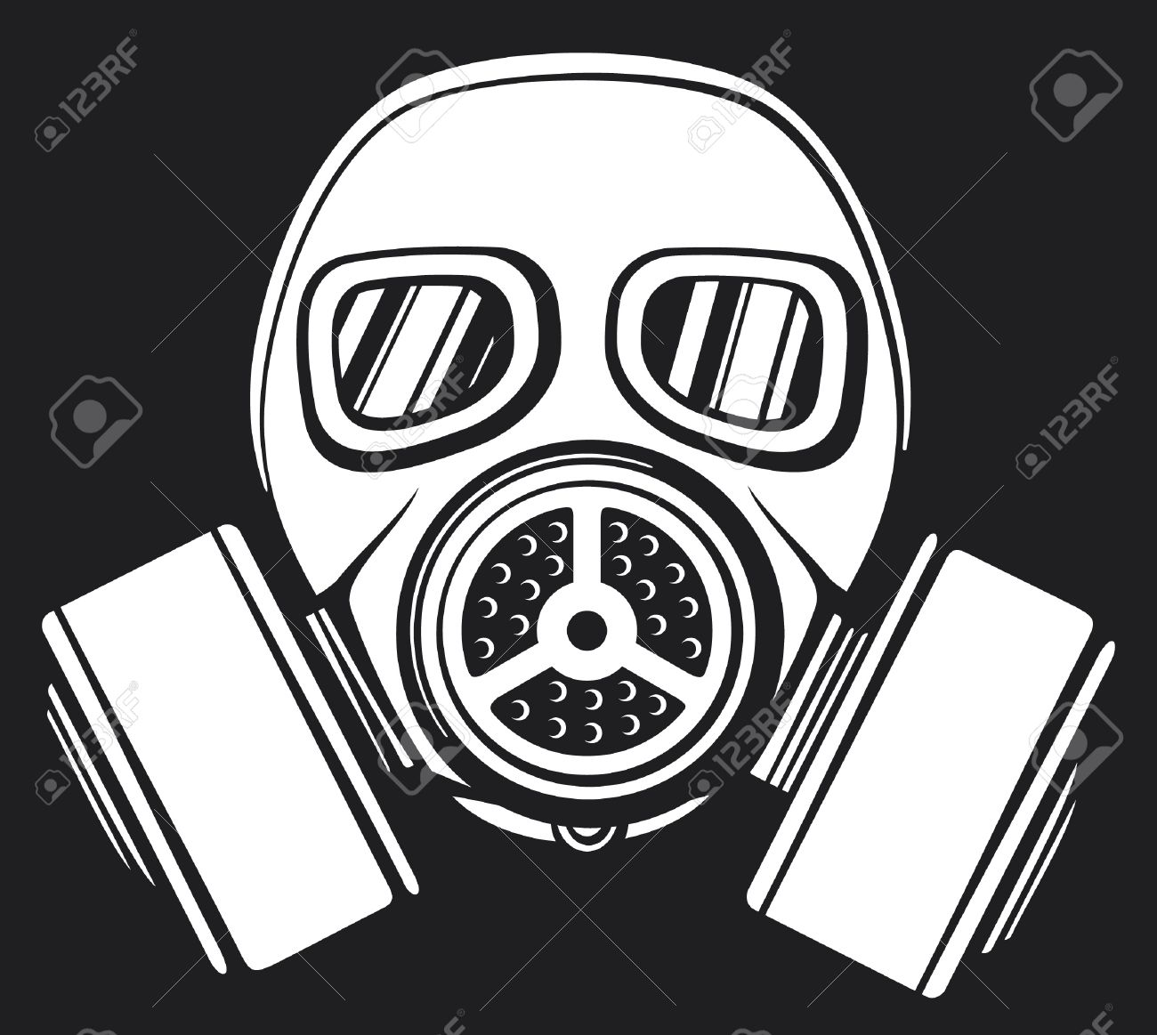 gas mask  army gas mask, mask-protection in the face of the filter, protective gas mask Stock Vector - 17470019