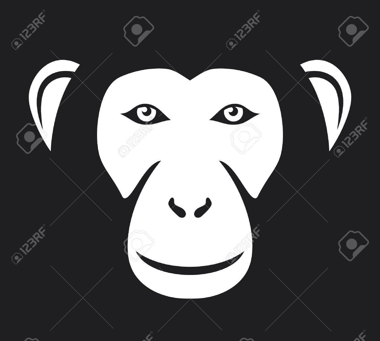 monkey head  ape head, monkey face Stock Vector - 17469981