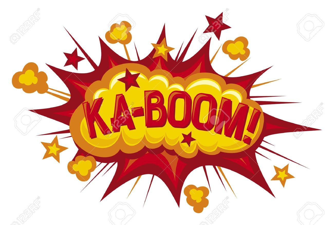 cartoon ka boom comic book element royalty free cliparts vectors