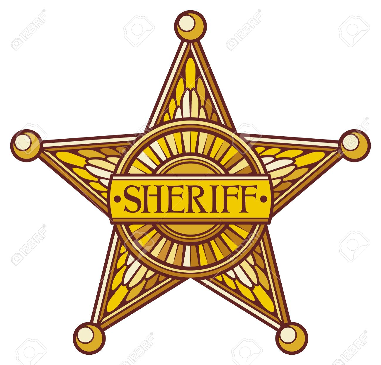 Sheriff S Star Sheriff Badge, Sheriff Shield Royalty Free Cliparts ...