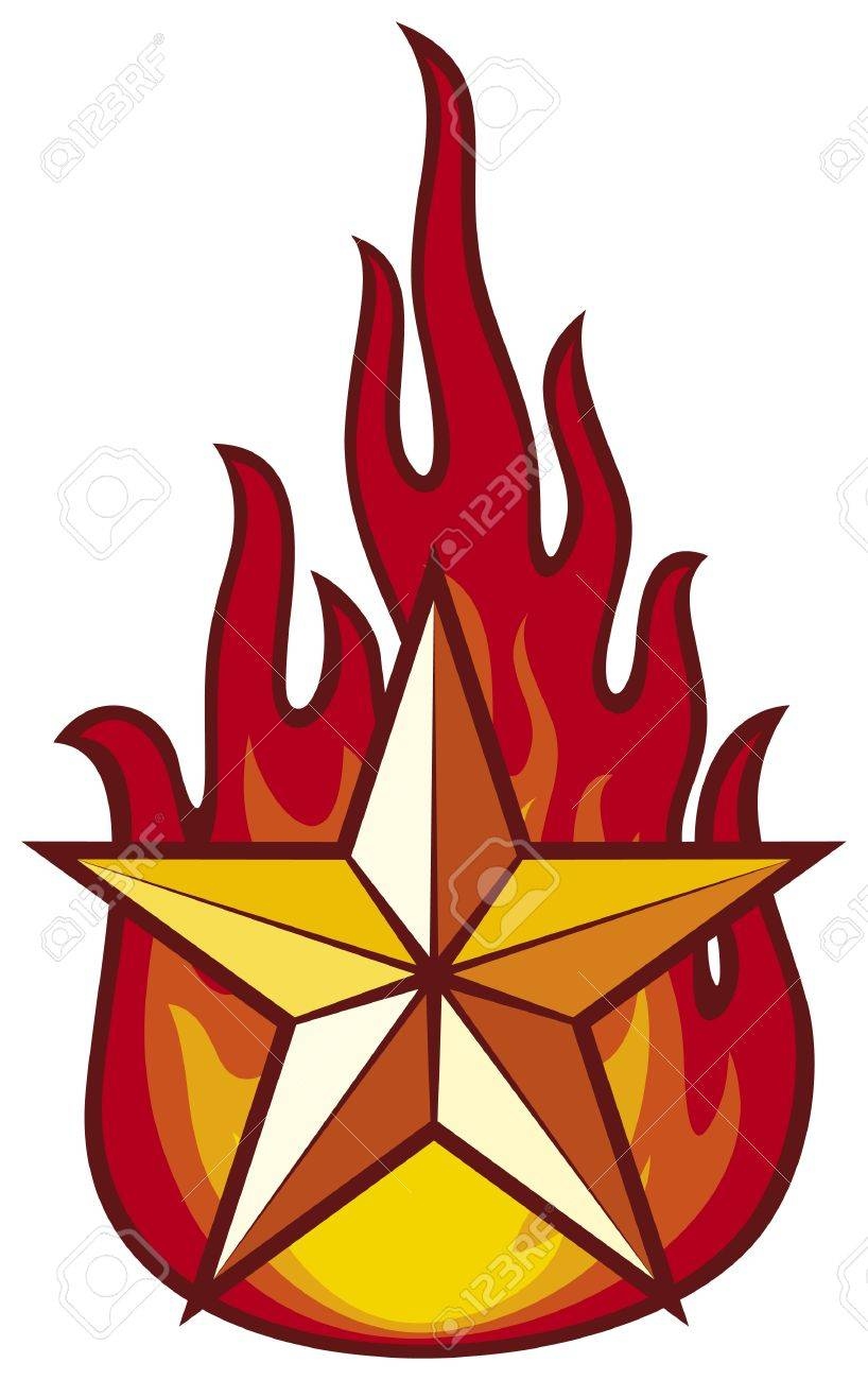 star and flame Stock Vector - 17919889
