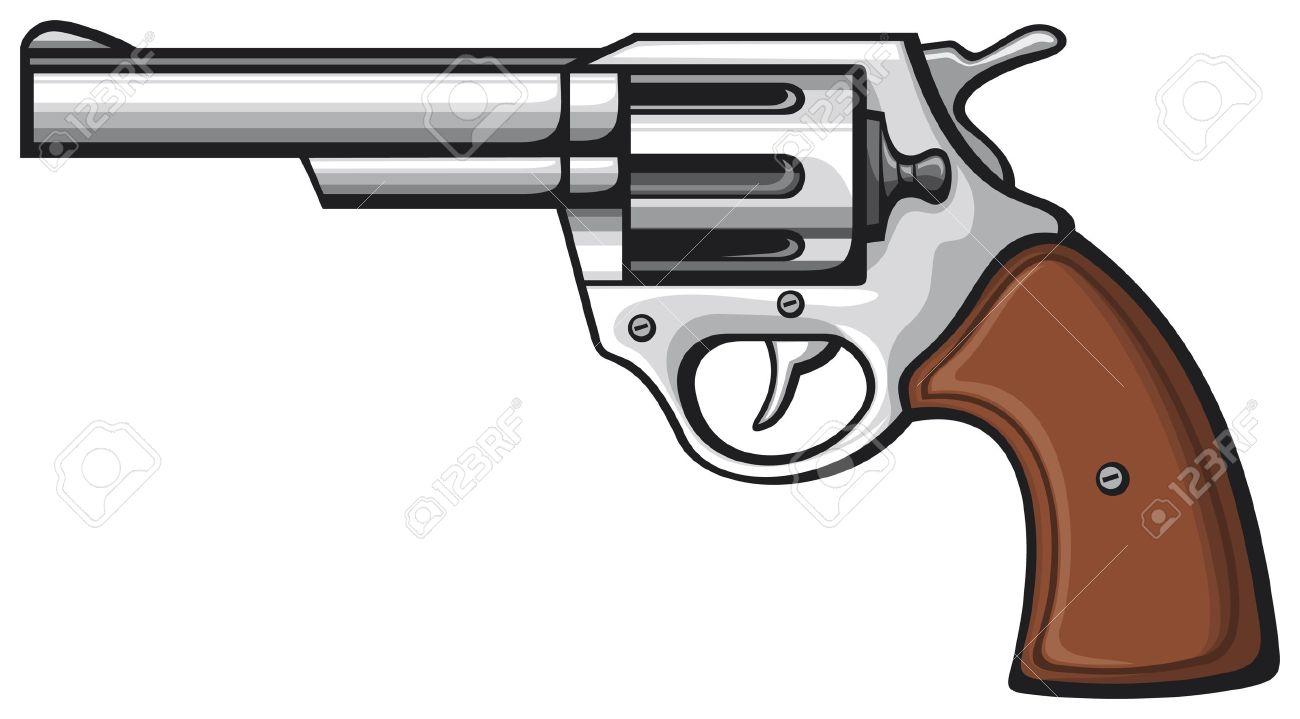 Western Revolver Gun Vector - handgun pistol