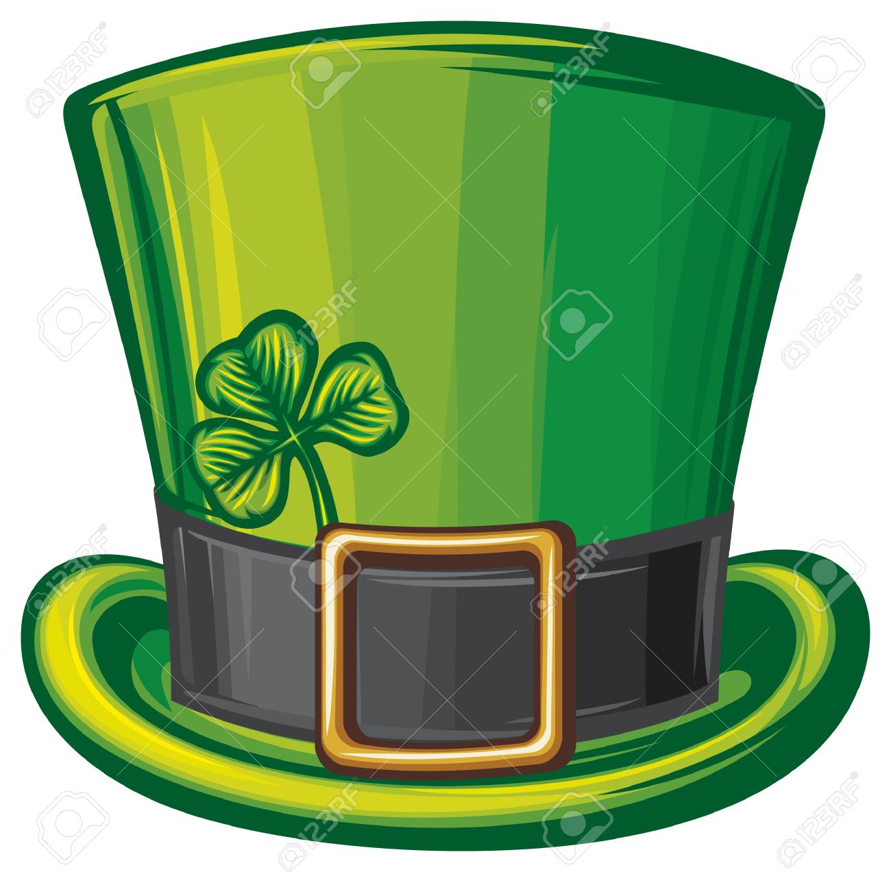 st patrick green hat  leprechaun hat, saint patrick s day leprechaun hat, patrick s head, irish hat Stock Vector - 17920084