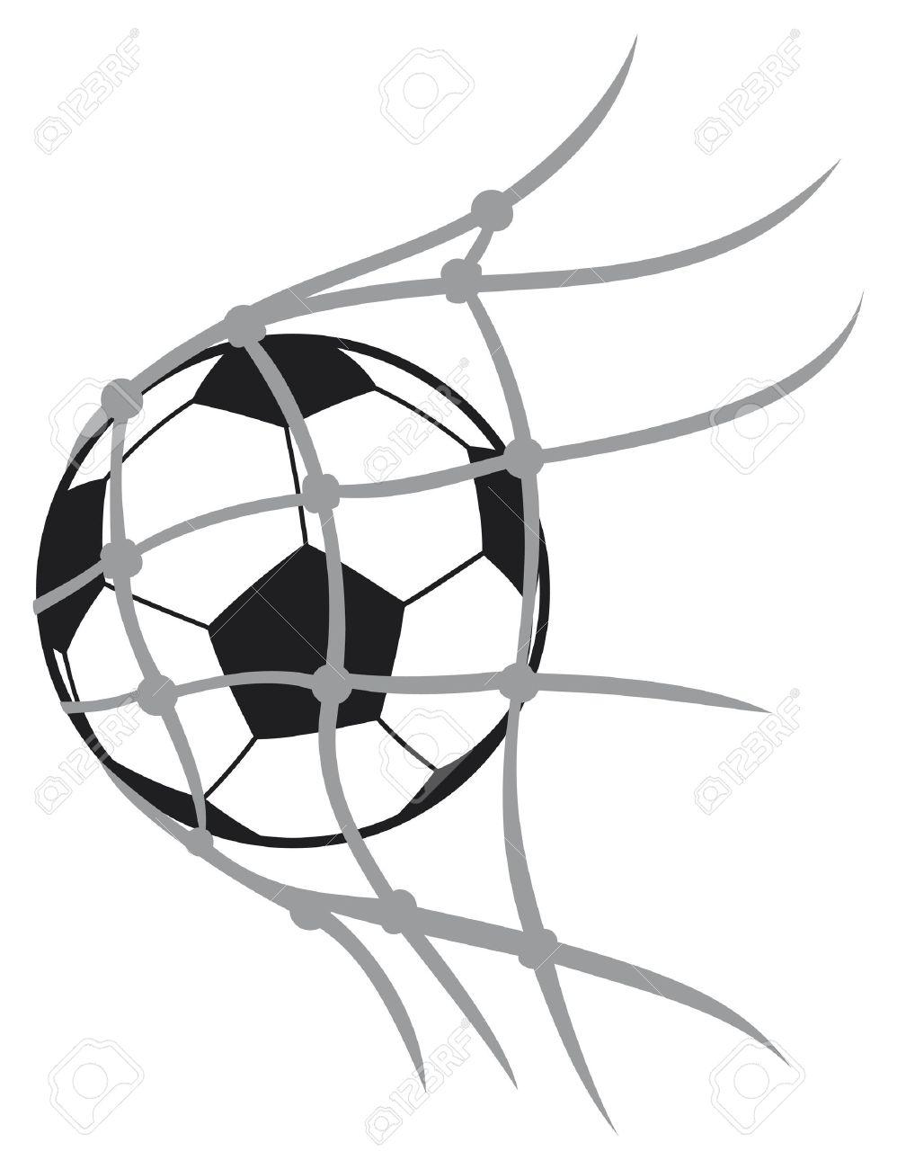 vector football ball soccer ball, soccer ball for football, soccer ball in net, football icon, football goal, soccer goal - 18179880