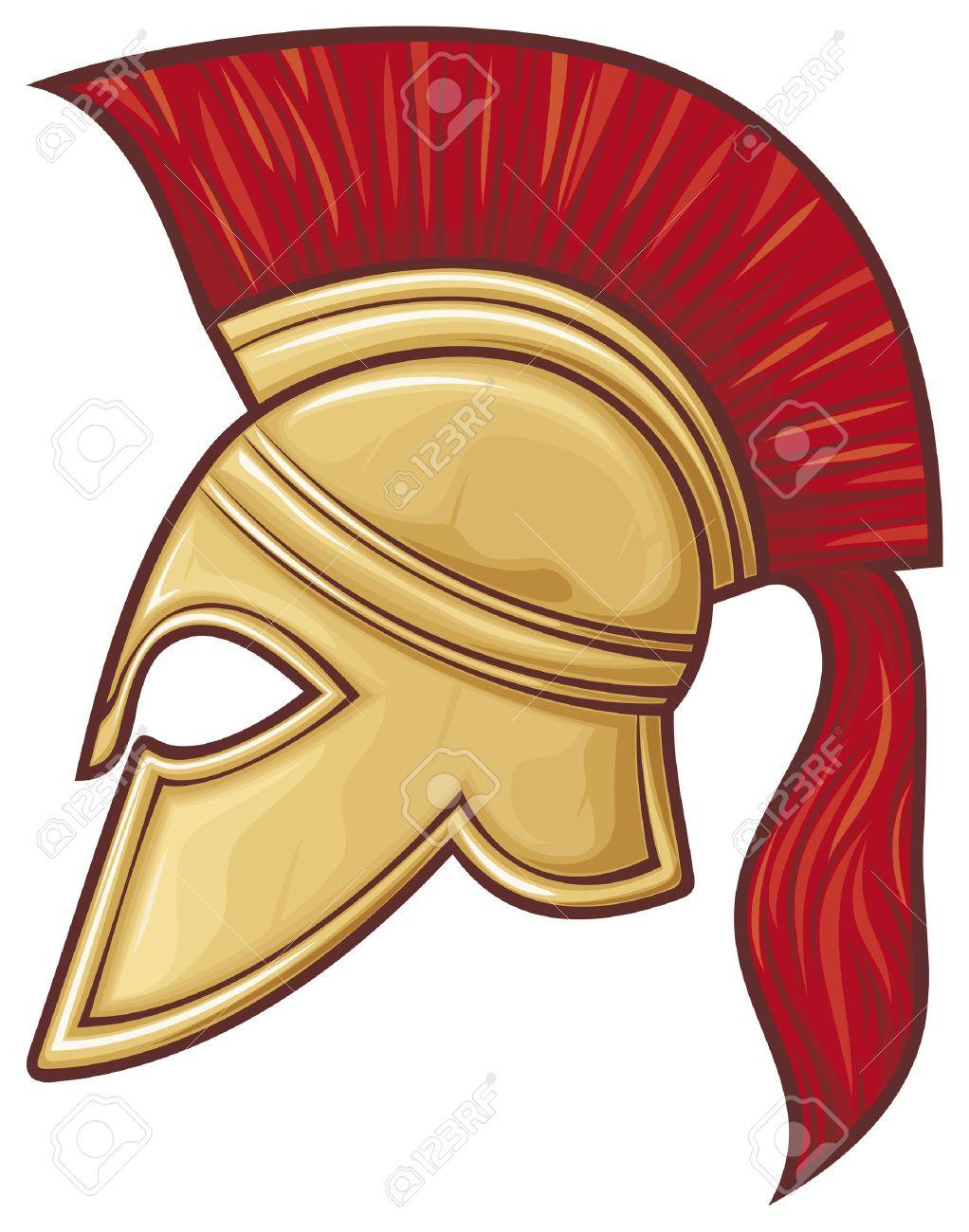 Spartan Helmet (illustration Of An Ancient Greek Warrior Helmet ... 8057bf5d9451