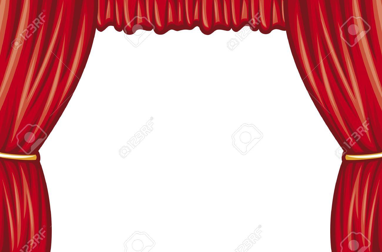Rouge Théâtre Rideau (rideau De Scène De Théâtre) Clip Art Libres De ...