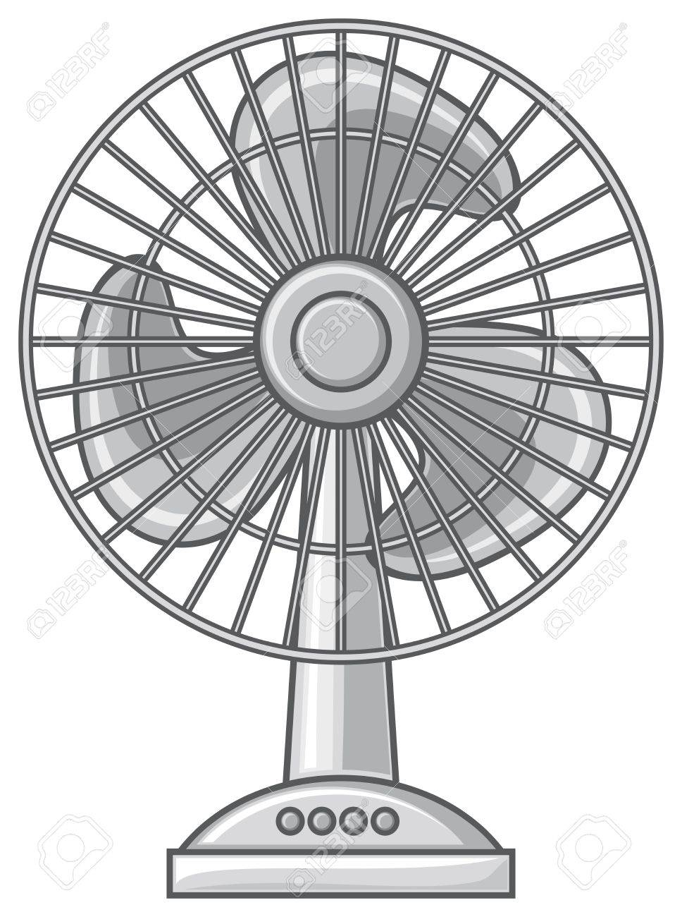 Table Fan (fan For The Home And Office, Electric Fan) Royalty Free ...
