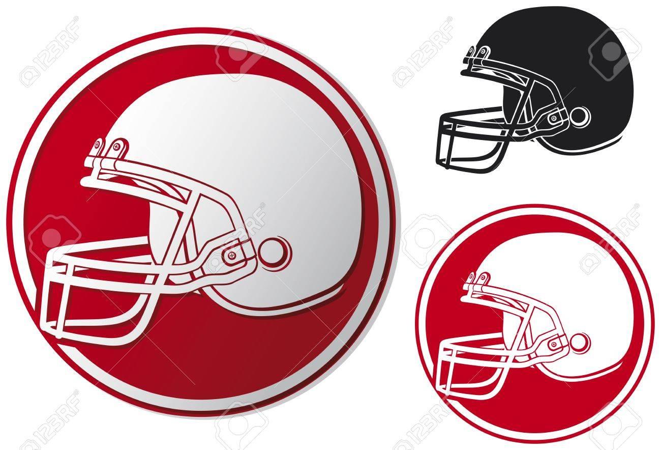 american football helmet icon  helmet football team, football helmet symbol, american football helmet label Stock Vector - 18661949