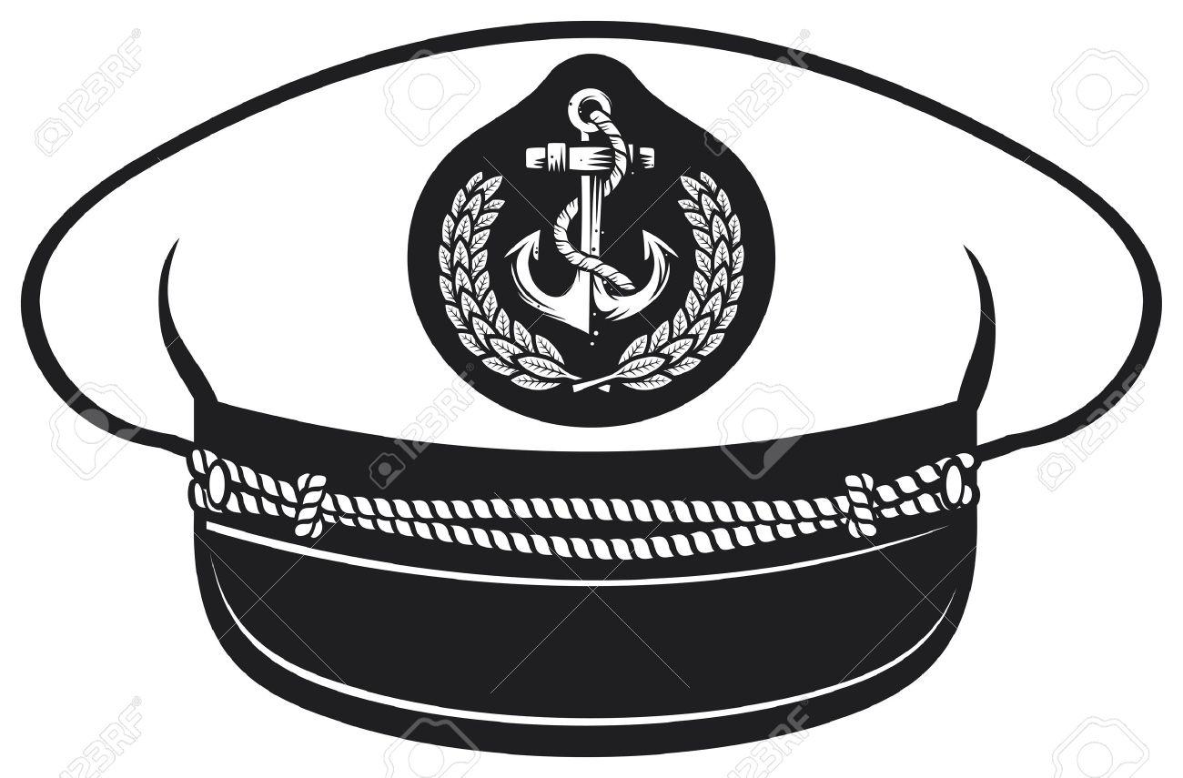 Navy Hat Clipart navy marines captain hat
