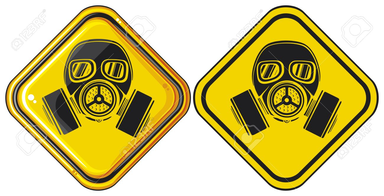 Gas Mask Signs Gas Mask Hazardous Sign Gas