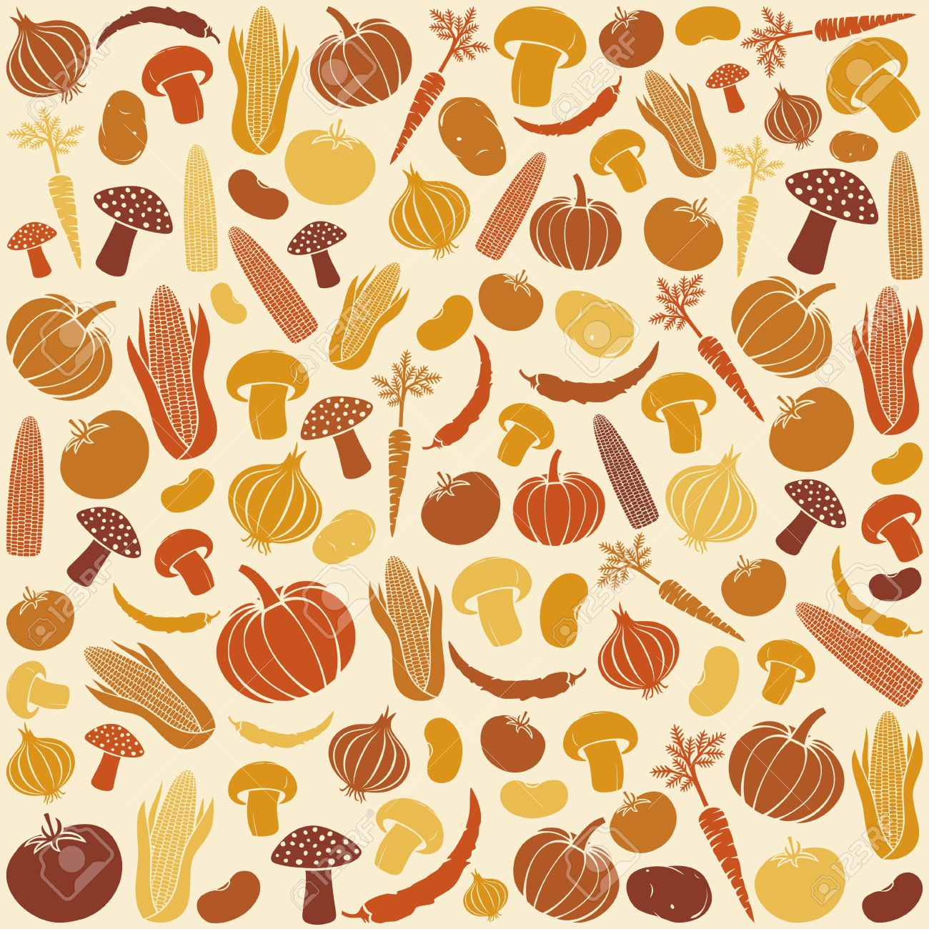 Seamless Pattern With Vegetables Vegetable Background, Vegetables ... for Background Pattern Tumblr Orange  61obs