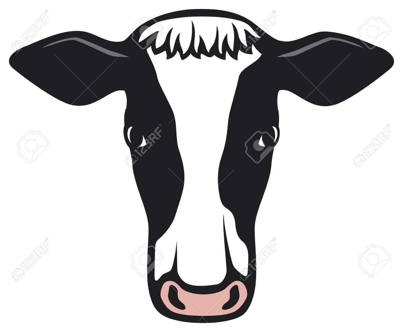 cow head royalty free cliparts vectors and stock illustration rh 123rf com cow face clip art vintage adorable cow face clipart