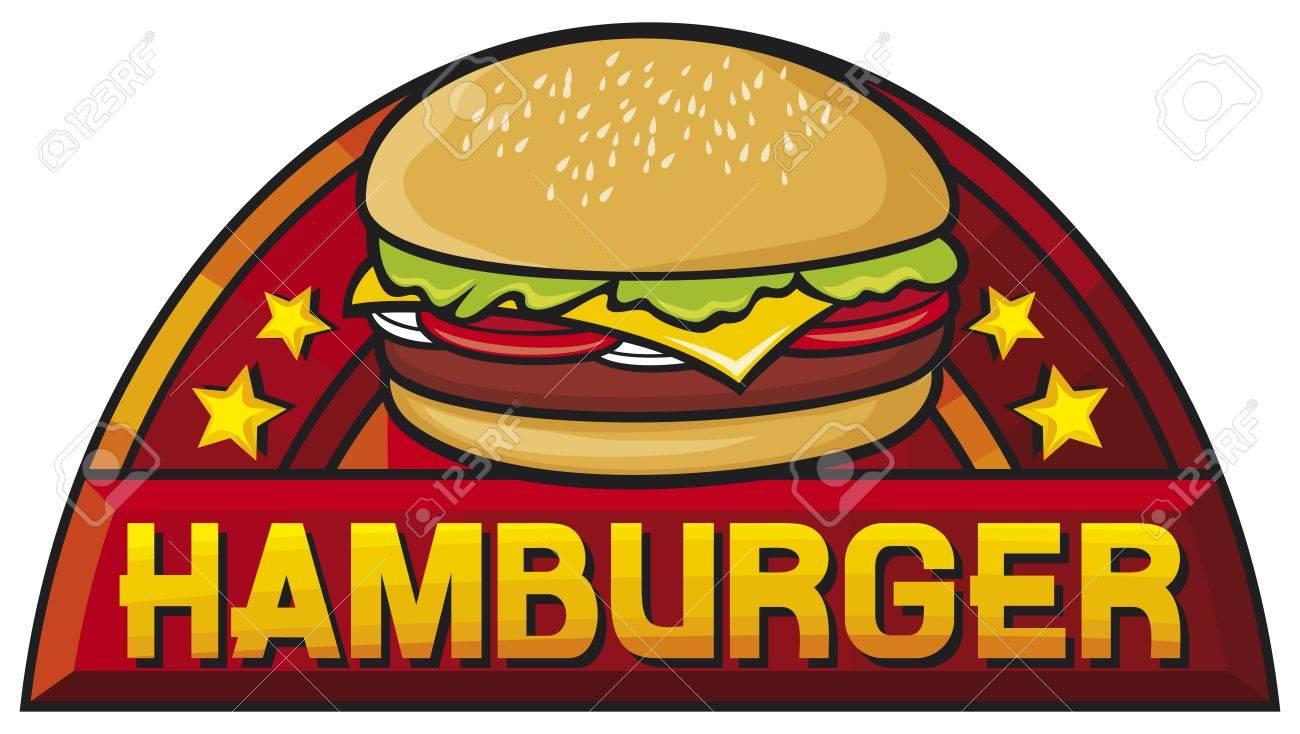hamburger  hamburger sign, label, design Stock Vector - 19317090