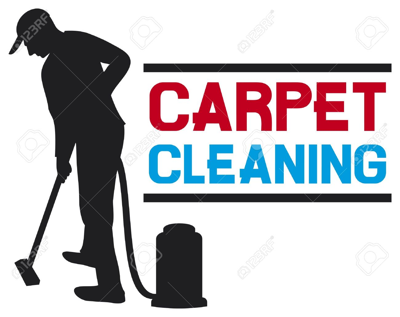 Vacuum cleaner clipart vacuum cleaner clip art - Vacuum Cleaner Worker Carpet Cleaning Service Design Professional Carpet Steam Label Man And A