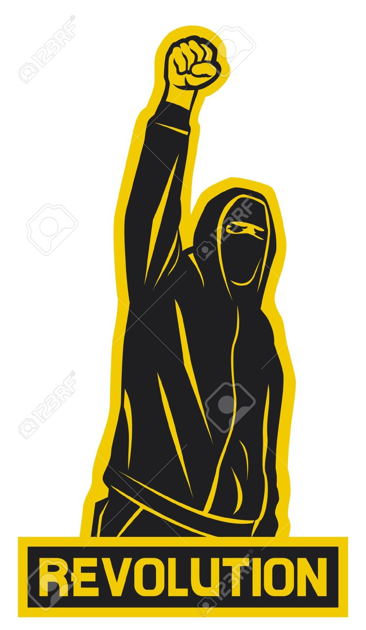 revolution  demonstrator, hooligan, protest man Stock Vector - 20010557