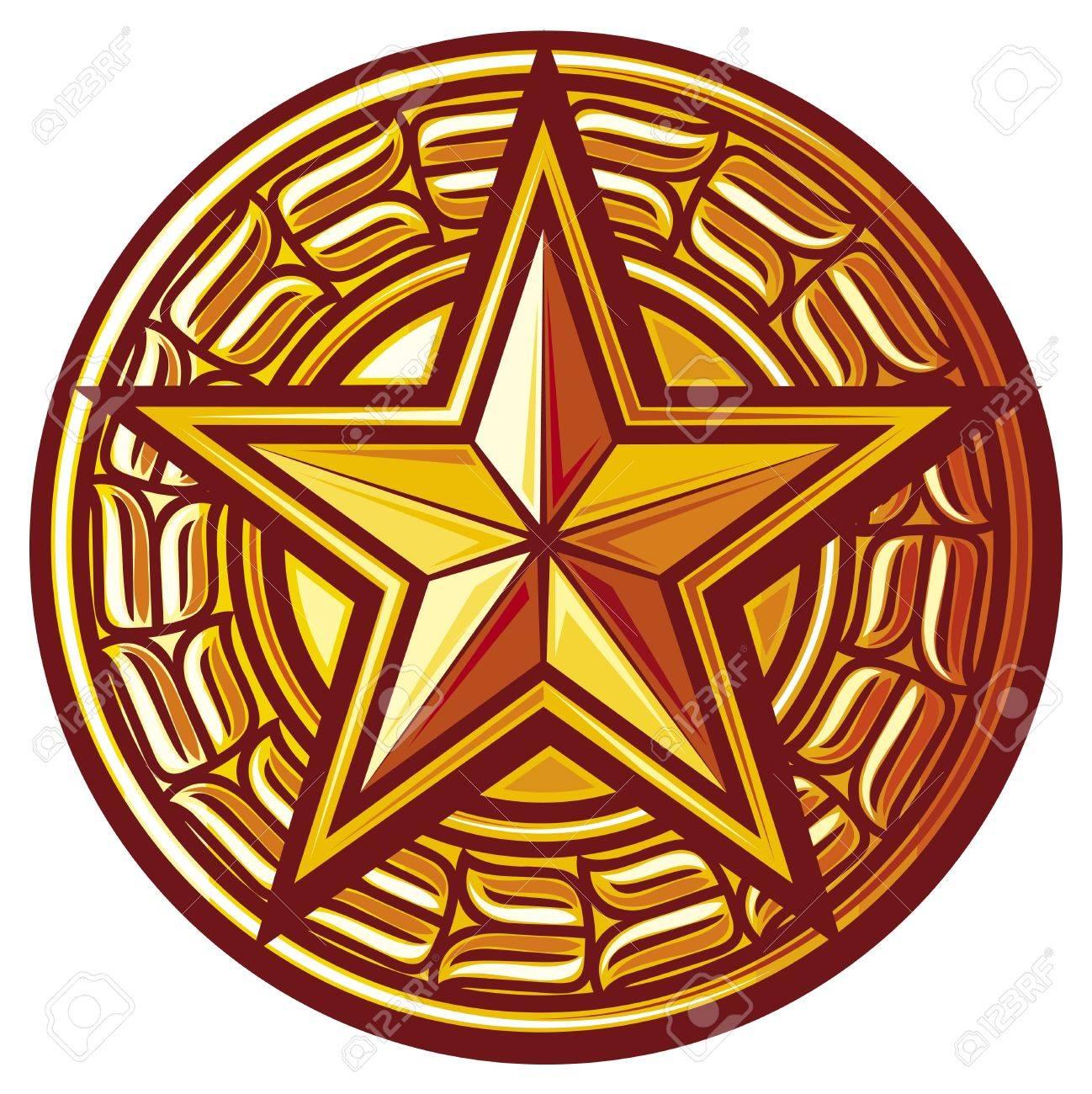 star star seal, sign, symbol, badge - 20192040