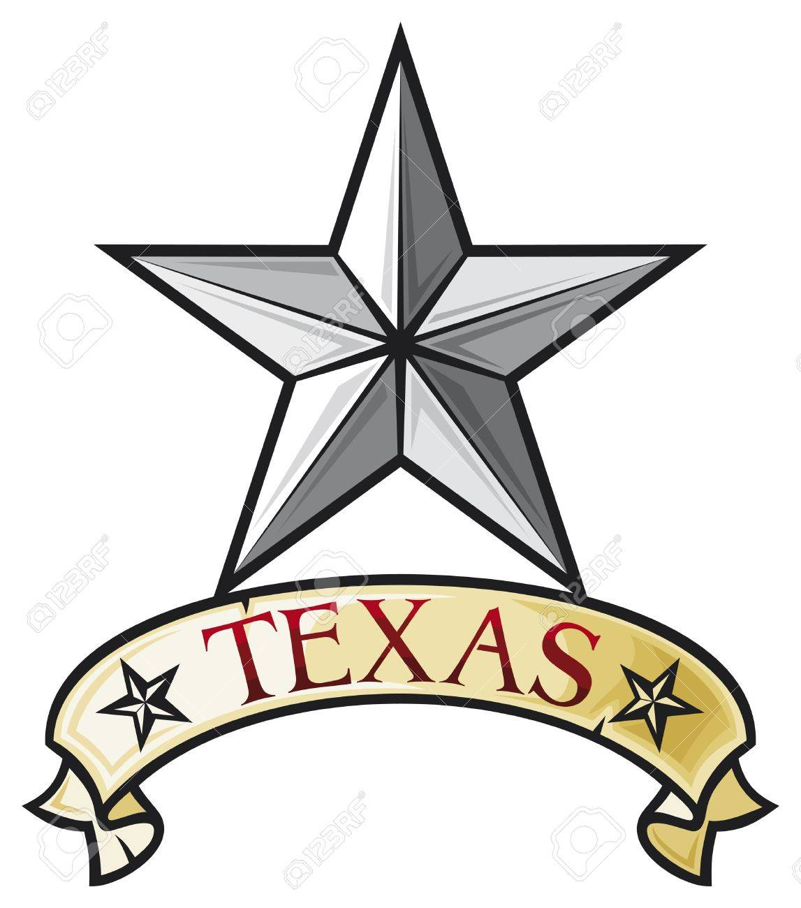 Star Symbol Of The State Of Texas Texas Lone Star Royalty Free