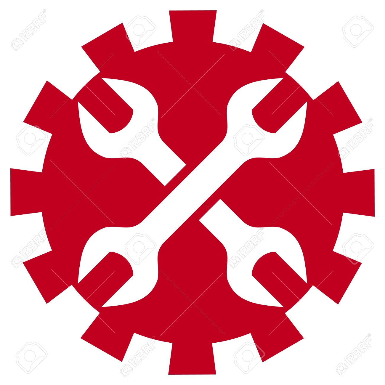 worker sign  crossed wrenches Stock Vector - 20303436