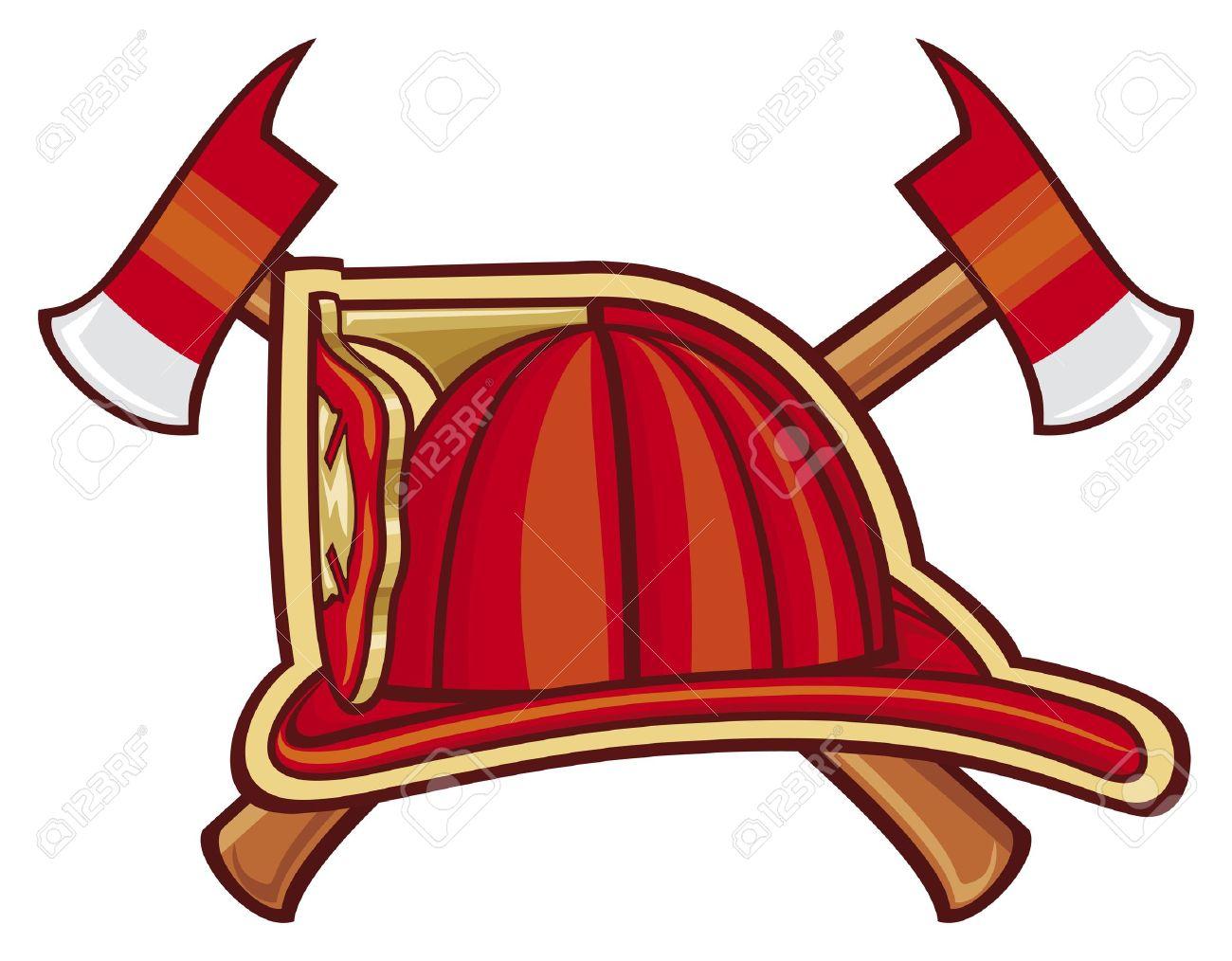 Volunteer Firefighter Emblem or Firefighters Symbol