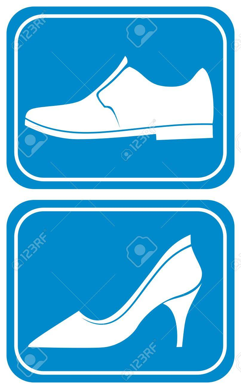 toilet sign with shoe Stock Vector - 20859406