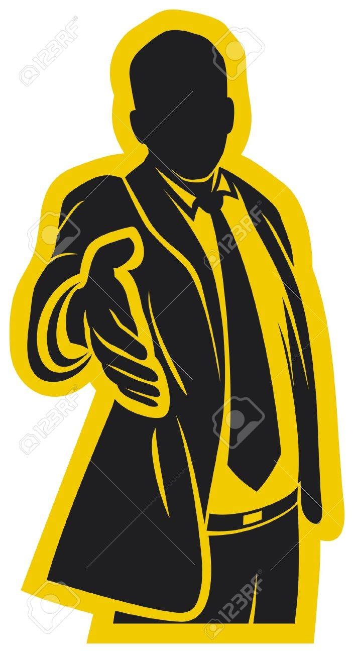 business man offering his hand for handshake Stock Vector - 20859528