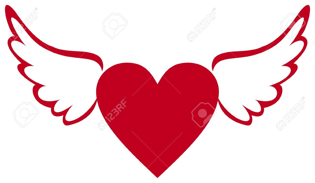 Heart With Wings Royalty Free Cliparts Vectors And Stock Illustration Image 21061195