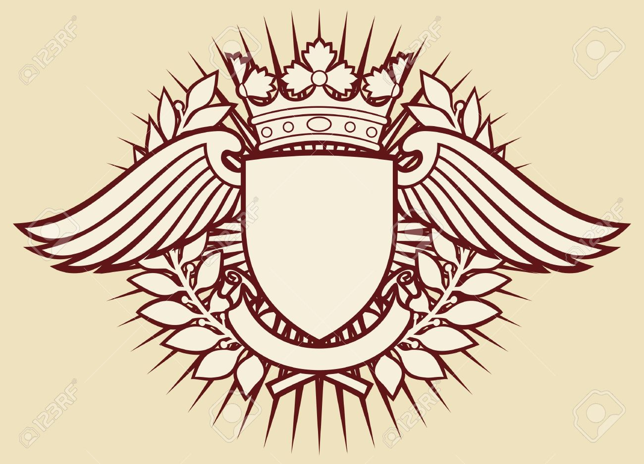 Wings Shield Crown Shield And Wings With Crown