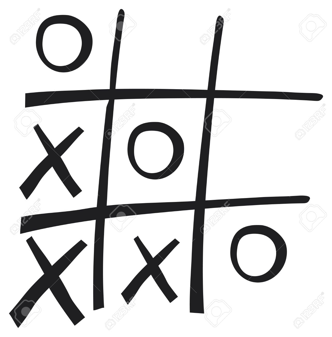 Hand Drawn Tic Tac Toe Game Royalty Free Cliparts Vectors And Stock Illustration Image 21060625