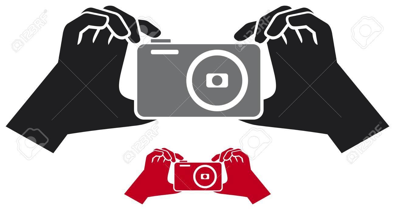 camera in hands Stock Vector - 21060508