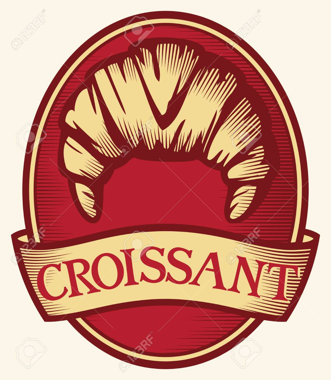 Save to a Lightbox   9660;    Find Similar Images    Share   9660; croissant label  croissant symbol Stock Vector - 23124997