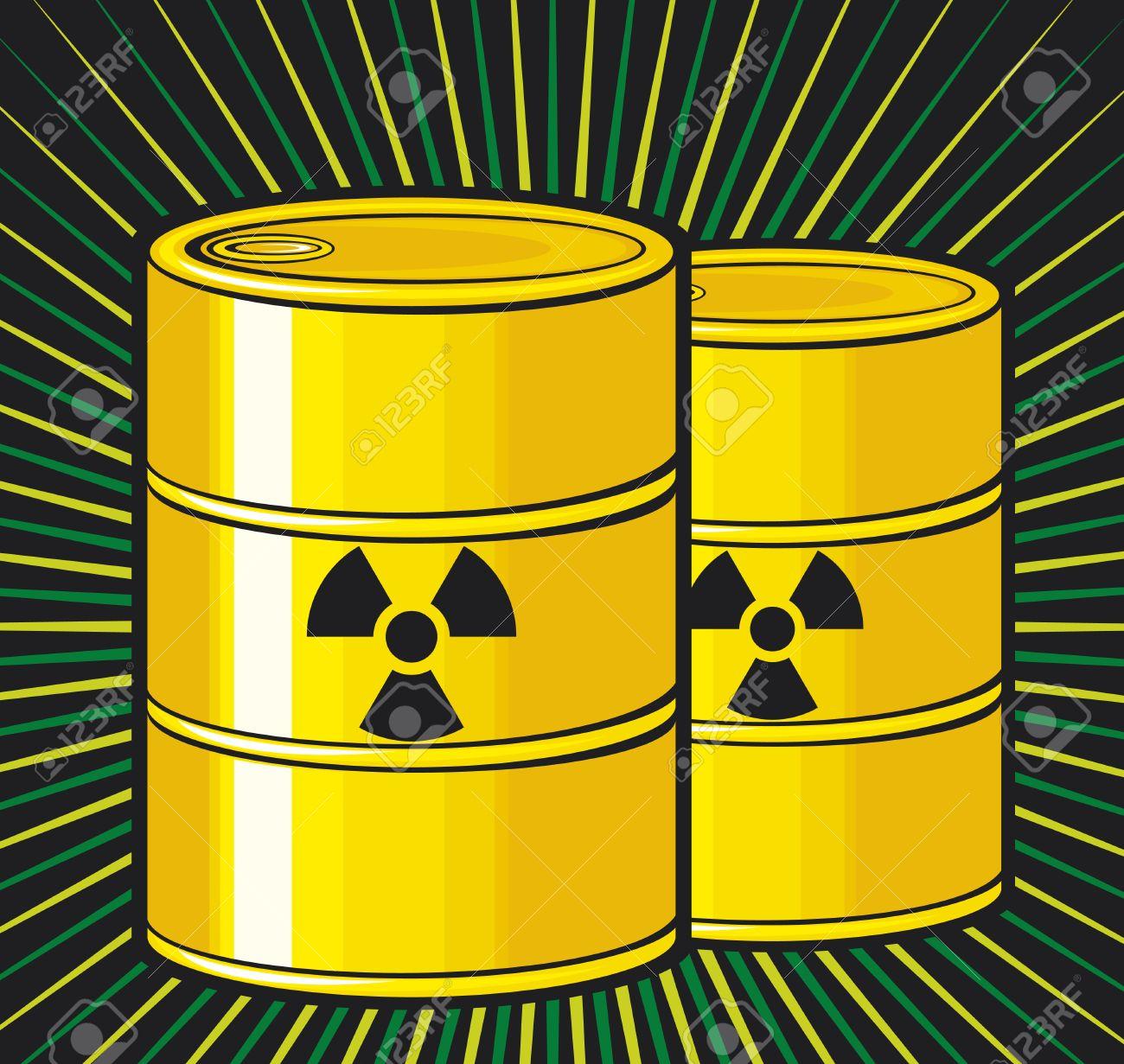 Barrels With Nuclear Waste Barrel Radioactive Waste Radioactive