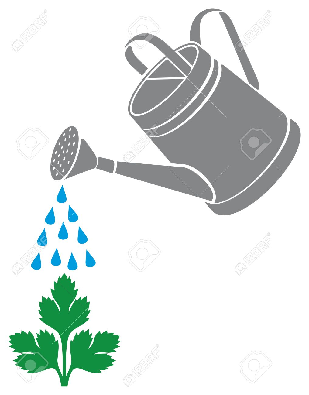 watering can watering plants stock vector 23476440