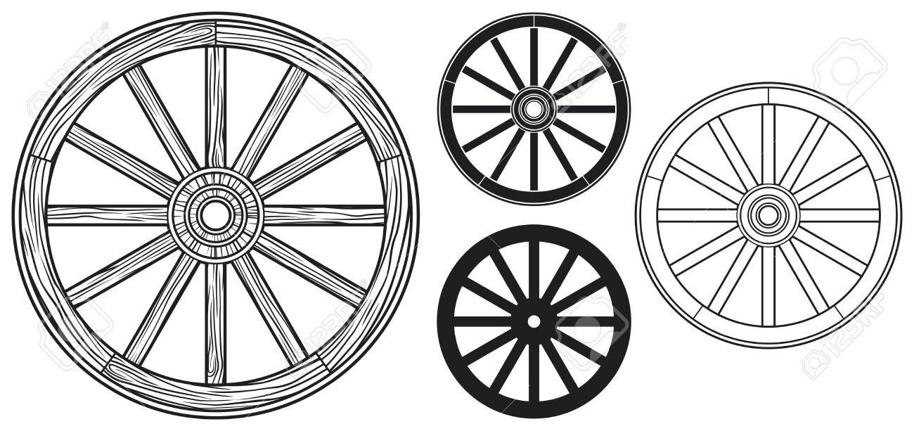 old wooden wheel - 23476435