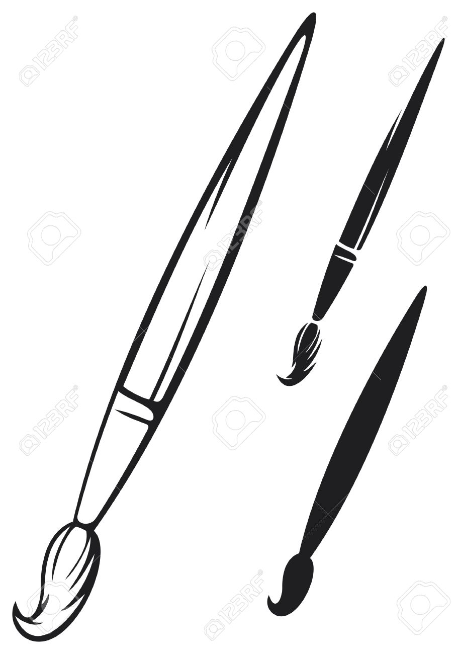 paint brush royalty free cliparts vectors and stock illustration rh 123rf com paint brush vector graphics paint brush vector