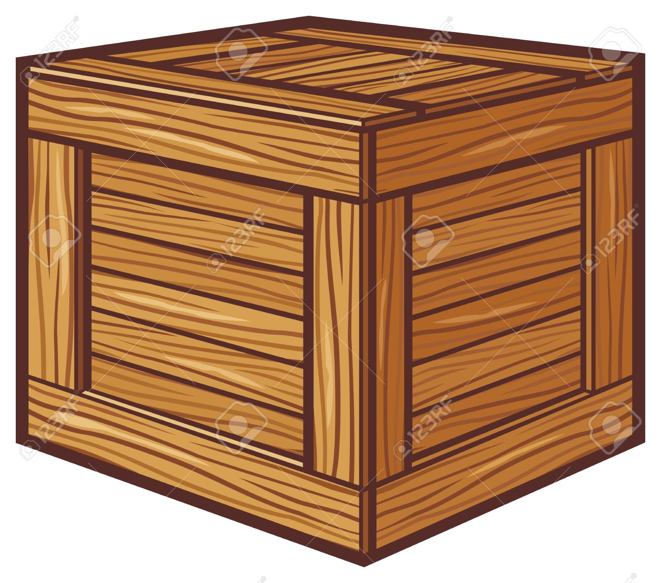 wooden box clipart. wooden box stock vector 24058863 clipart n